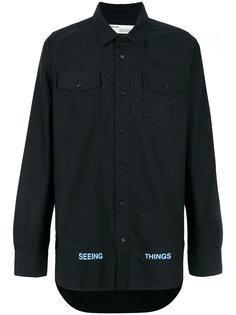 рубашка с принтом сзади Off-White