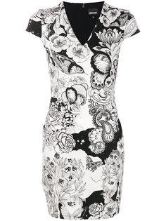 платье мини с принтом пейсли  Just Cavalli