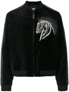 куртка-бомбер с вышивкой лошади Just Cavalli