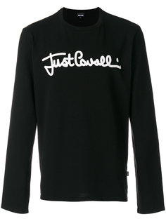свитер с вышивкой логотипа Just Cavalli