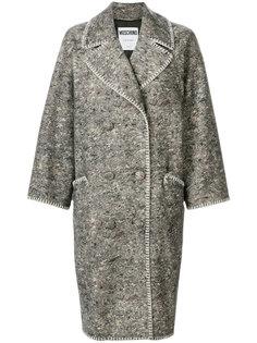 свободное двубортное пальто  Moschino