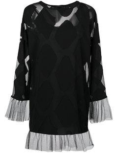 многослойное платье мини с отделкой из тюля  Federica Tosi
