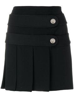 плиссированная мини-юбка с пуговицами  Versus