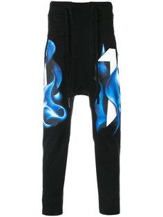спортивные брюки с принтом 11 By Boris Bidjan Saberi