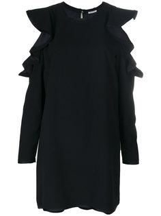 платье с оборками и открытыми плечами  P.A.R.O.S.H.