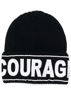 шапка-бини Courage с вышивкой Versace