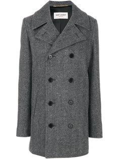 двубортное пальто Caban Saint Laurent