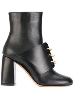 ботинки с полукруглыми кольцами спереди Red Valentino