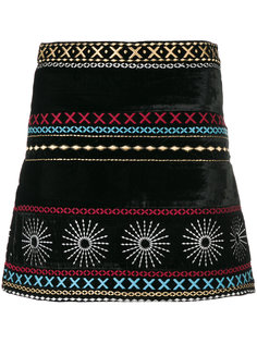 embroidered velvet skirt Dodo Bar Or