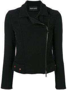 укороченная байкерская куртка  Emporio Armani
