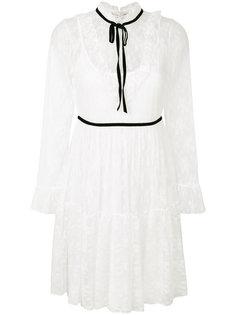 кружевное платье с контрастной отделкой Blugirl