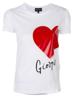 футболка с принтом  Emporio Armani