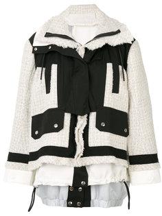 пальто букле с юбкой  Sacai