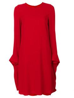 платье шифт с манжетами на завязках  Emporio Armani
