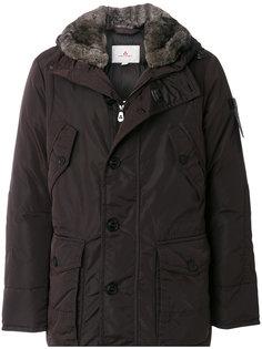 пальто с меховым воротником Peuterey