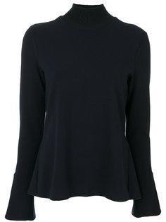 пуловер в рубчик с высоким воротом  Emporio Armani