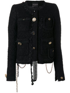 твидовый пиджак с вышивкой  Erika Cavallini
