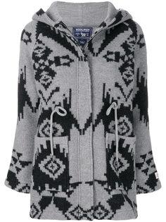 пальто с геометрическим принтом Woolrich