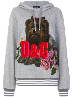 толстовка с принтом собаки  Dolce & Gabbana