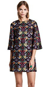 alice + olivia Coley Bell Sleeve Dress