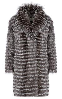 Жакет из меха лисы на трикотажной основе Virtuale Fur Collection