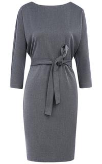 Серое платье с поясом La Reine Blanche