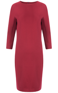 Бордовое трикотажное платье La Reine Blanche