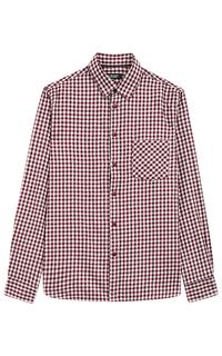 Хлопковая рубашка в клетку Al Franco