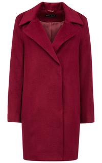 Бордовое полушерстяное пальто La Reine Blanche