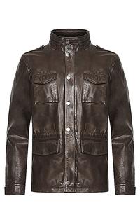 Мужская кожаная куртка на синтепоне Jorg Weber