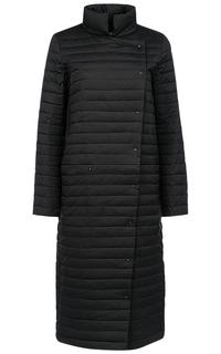 Черное пальто на натуральном пуху Acasta