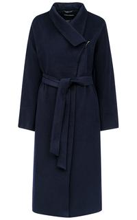 Синее полушерстяное пальто La Reine Blanche