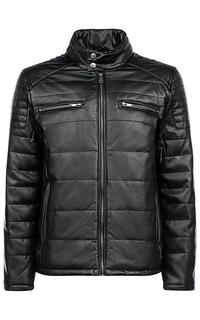 Мужская куртка из экокожи на синтепоне Al Franco