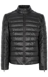 кожаная куртка на синтепоне Urban Fashion for men