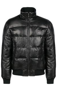 Кожаная куртка-бомбер на искусственном пуху Jorg Weber