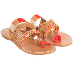 Сандалии женские Soludos Multi Band Bracelet Sandal Vachetta Red Multi