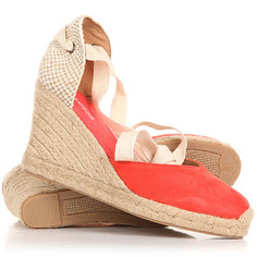 Сандалии Soludos Tall Wedge Linen Blush