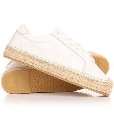 Кеды кроссовки низкие женские Soludos Platform Tennis Sneaker White