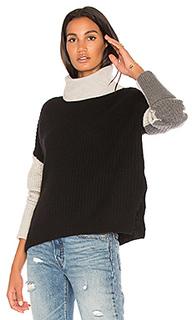 Свитер с высоким воротником и цветными блоками dree - 360 Sweater