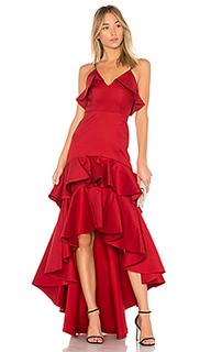Платье с асимметричным подолом zafina - Alexis
