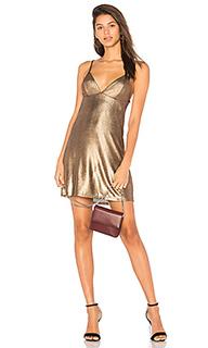 Мини-платье из металлизированного трикотажа madison - by the way.