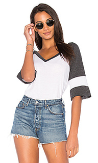 Blocked jersey v neck tee - Chaser