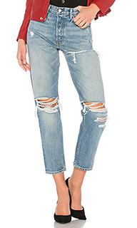 Укороченные прямые джинсы высокой посадки helena - GRLFRND