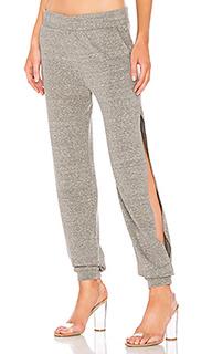Спортивные брюки с разрезами по бокам - Lanston