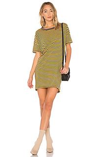 Платье с коротким рукавом mustard stripe - Stateside