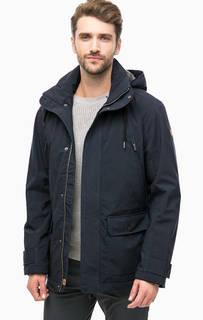 Синяя демисезонная куртка с капюшоном Luhta