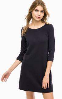 Черное хлопковое платье с длинными рукавами Rich&Royal