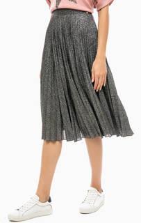 Серебристая плиссированная юбка Rich&Royal