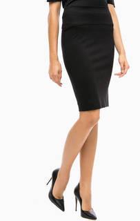 Черная трикотажная юбка-карандаш More & More