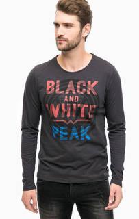 Черная хлопковая футболка с принтом Wrangler